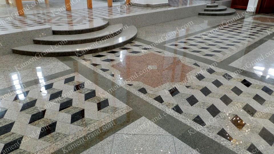 Полы из натурального камня в храмах